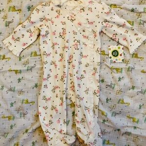 Floral Button Footed Sleeper